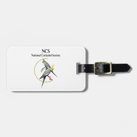 NCS Luggage Tag w/Leather Strap