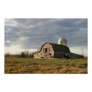 ND barn cement silo photograph Imaginative Imagery Poster
