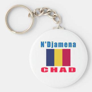N'Djamena Chad capital designs Key Chain