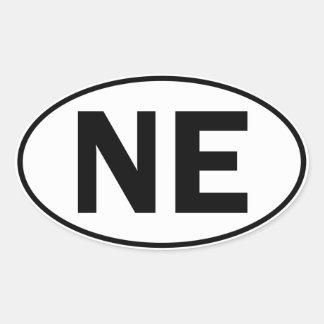 NE Oval Identity Sign Oval Sticker