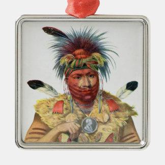 Ne-Sou-A-Quoit, a Fox Chief Christmas Ornament