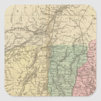 NE United States Square Sticker