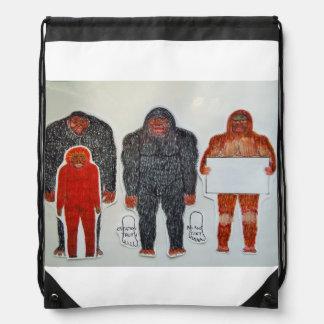 Neanderthal 3 friends, drawstring backpack