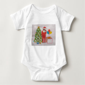 Neanderthal Father Christmas,.JPG Baby Bodysuit