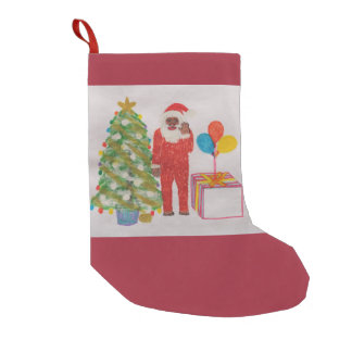 Neanderthal father Christmas stocking