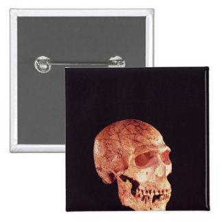 Neanderthal Skull, discovered on Mt Carmel 15 Cm Square Badge