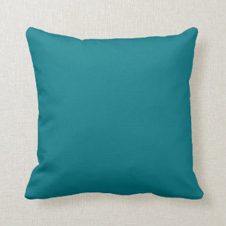 Neanderthal Skull watercolour turquoise back Throw Pillow