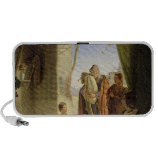 Neapolitan bagpipe player in wintry Rome, 1833 Mini Speakers