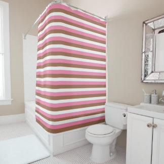 Neapolitan Colorful Striped Pattern Shower Curtain