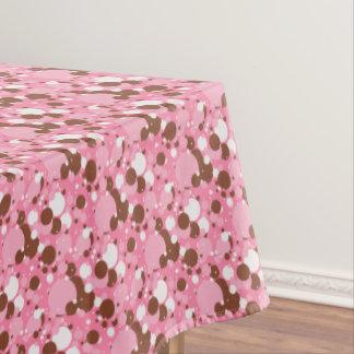 Neapolitan Dots 2-Pink Drk-52x70 COTTON TABLECLOTH
