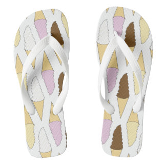 Neapolitan Ice Cream Adults Flip Flops
