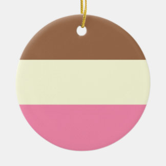 Neapolitan Ice Cream Christmas Ornament