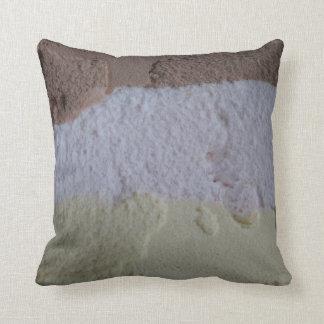 Neapolitan Ice Cream Pillow - Black