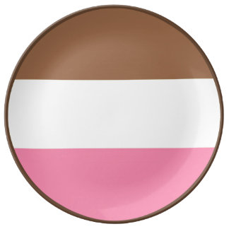 Neapolitan Ice Cream Porcelain Plates