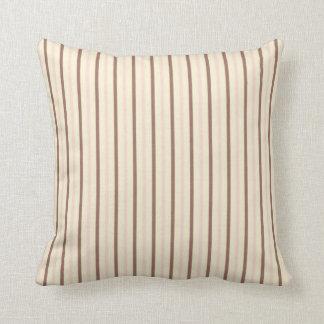 Neapolitan Ice Cream Stripes Throw Pillow