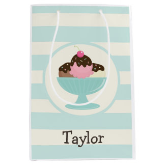 Neapolitan Ice Cream Sundae; Cherry & Sprinkles Medium Gift Bag