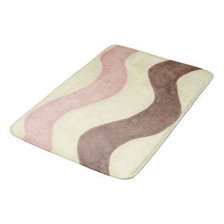 Neapolitan Ice Cream Themed Bath Mat