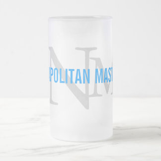 Neapolitan Mastiff Breed Monogram Design Frosted Glass Mug