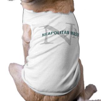 Neapolitan Mastiff Breed Monogram Design Sleeveless Dog Shirt