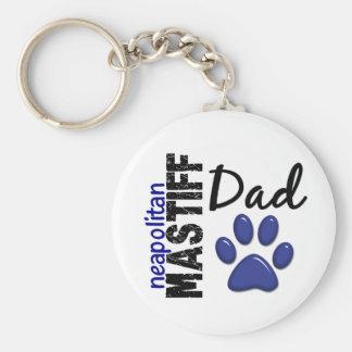 Neapolitan Mastiff Dad 2 Basic Round Button Key Ring