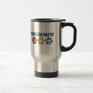 NEAPOLITAN MASTIFF Dad Paw Print 1 Travel Mug