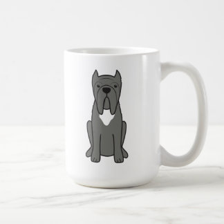 Neapolitan Mastiff Dog Cartoon Basic White Mug