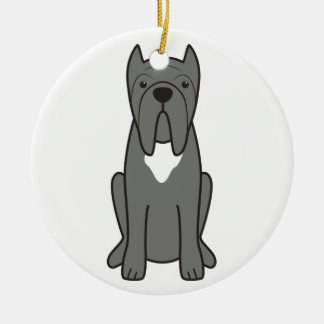 Neapolitan Mastiff Dog Cartoon Christmas Ornament