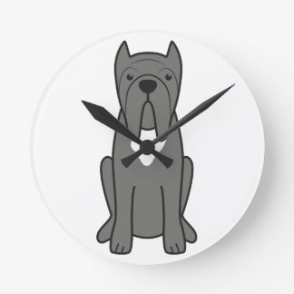 Neapolitan Mastiff Dog Cartoon Round Clock