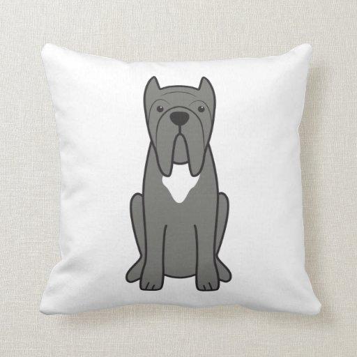 Neapolitan Mastiff Dog Cartoon Throw Pillows