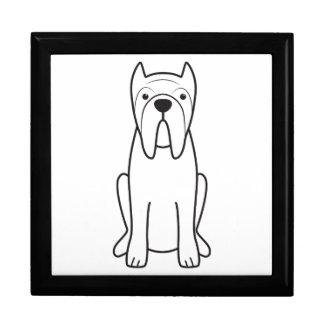 Neapolitan Mastiff Dog Cartoon Large Square Gift Box