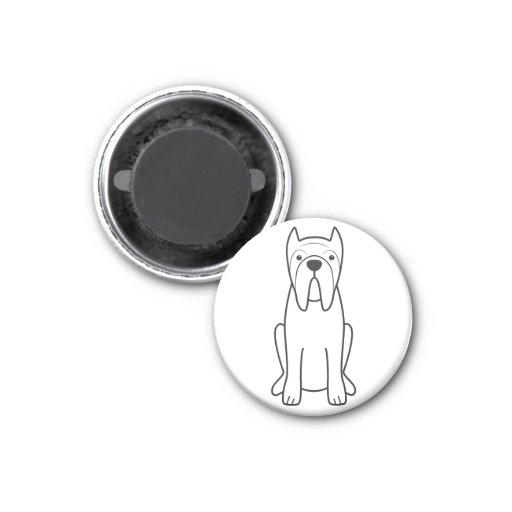 Neapolitan Mastiff Dog Cartoon Refrigerator Magnet
