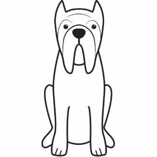 Neapolitan Mastiff Dog Cartoon Acrylic Cut Outs