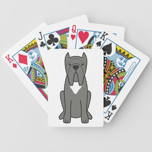 Neapolitan Mastiff Dog Cartoon Bicycle Poker Cards
