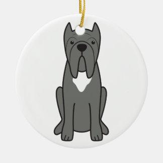 Neapolitan Mastiff Dog Cartoon Round Ceramic Decoration