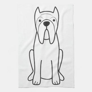 Neapolitan Mastiff Dog Cartoon Hand Towel