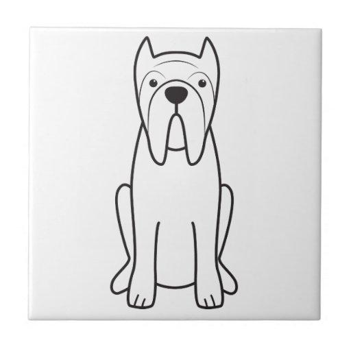 Neapolitan Mastiff Dog Cartoon Tile
