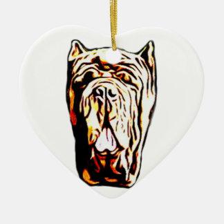 Neapolitan Mastiff dog Ceramic Heart Decoration