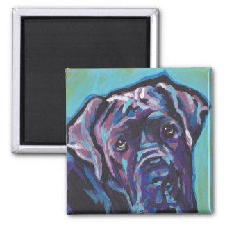 neapolitan Mastiff Dog Pop Art Square Magnet