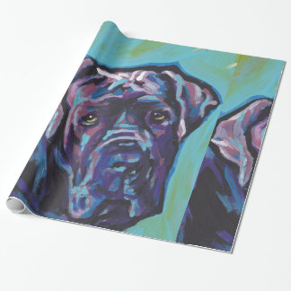 neapolitan Mastiff Dog Pop Art Wrapping Paper