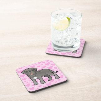 Neapolitan Mastiff Love Beverage Coasters