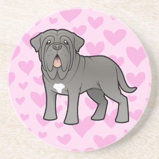 Neapolitan Mastiff Love Drink Coaster