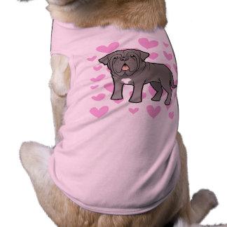 Neapolitan Mastiff Love Sleeveless Dog Shirt