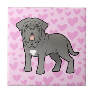 Neapolitan Mastiff Love Small Square Tile