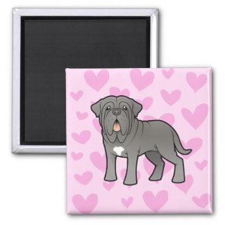 Neapolitan Mastiff Love Square Magnet