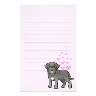Neapolitan Mastiff Love Stationery Design