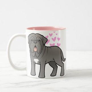 Neapolitan Mastiff Love Two-Tone Coffee Mug