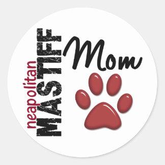 Neapolitan Mastiff Mom 2 Round Sticker