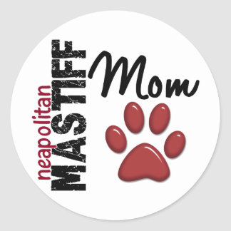 Neapolitan Mastiff Mom 2 Sticker