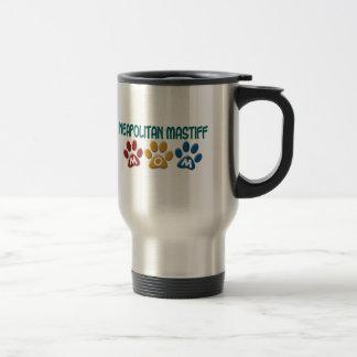 NEAPOLITAN MASTIFF Mom Paw Print 1 15 Oz Stainless Steel Travel Mug