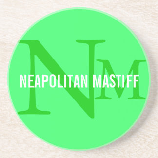 Neapolitan Mastiff Monogram Design Beverage Coaster